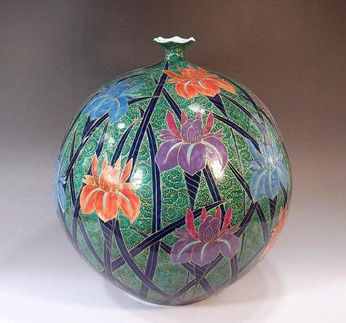 有田焼伊万里焼|花瓶陶器花器壺|贈答品|高級ギフト|記念品|贈り物|雲文様菖蒲藤井錦彩 B00HY1ZZ12