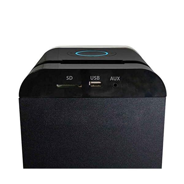 Metronic 477092 Colonne Bluetooth Nuances de Grey 240 W avec USB Play & Charge / Radio FM / Réglage des basses 3