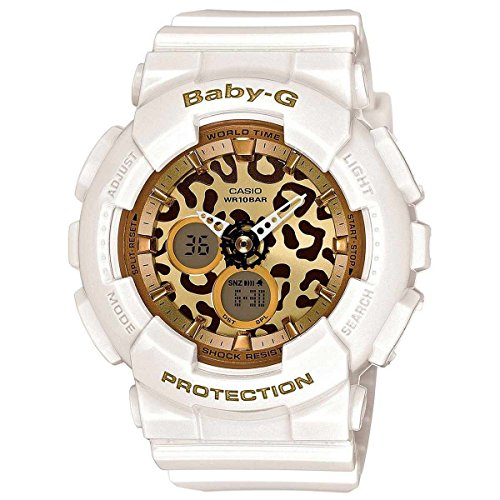 Casio Baby-G Animal Print Graphic Dial Resin Quartz Ladies Watch BA120LP-7A2 by Casio