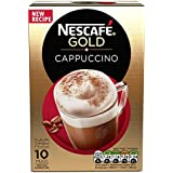 Nescafe Gold Cappuccino Instant Coffee Sachets, 17g (Pack Of 10)