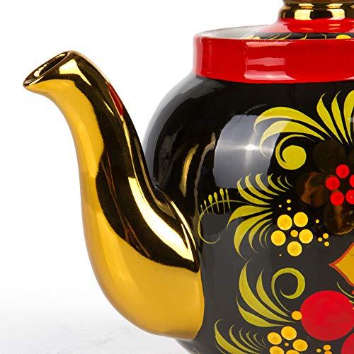 Khokhloma Electric Samovar Set with Tray & Teapot Russian Samovar Tea Maker by Tula (Image #5)