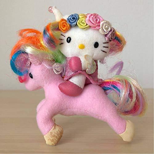 激☆ハローキティ☆Hello Kitty ウィングピース ユニコーン ぬいぐるみ マスコットホルダー 羽根 虹色 2001 サンリオ