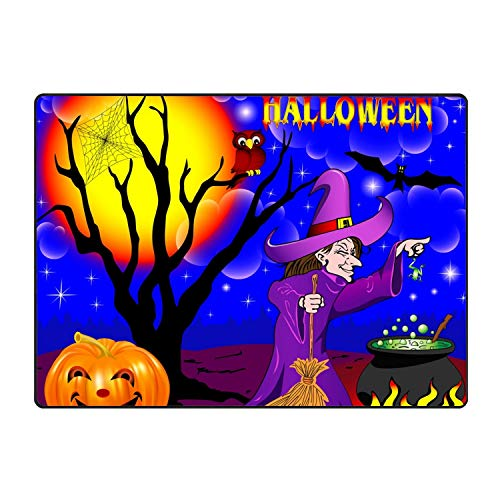 SEVTNY Halloween with The Boiler Personalized Super Absorbent Anti-Slip Mat,Funny Doormat,Indoor/Outdoor Decor Rug Doormat31x20 Non-Slip Home Decor ()