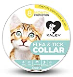 Kalev Flea And Tick Collar For Cats - Vet Recommended Hypoallergenic Waterproof Natural 8 Month Protection & Prevention From Fleas Ticks Mosquitos Larvae Lice Treatment (13 Inches)
