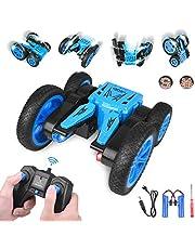 kupet Voiture Télécommandée 2.4GHz 1:24, 4WD RC Stunt Car Radiocommandée 360 Degrés Tourné Rotation Jouet avec Batterie Rechargeable pour Enfant