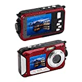 MARVUE 801S Underwater Digital Camera 24MP Waterproof Video Camcorder FULL HD 1080P Self Shot Dual Screen DV Recorder