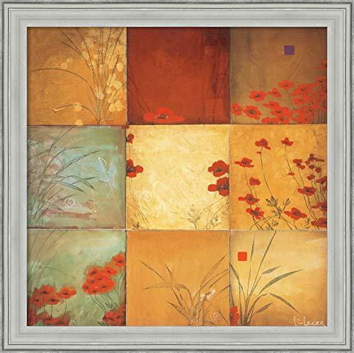 Canvas Art Framed 'Poppy Nine Patch' by Don ()