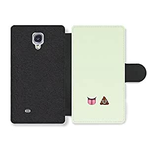 Emoji Lick Poo Funny Cool Faux Leather case for Samsung Galaxy S4