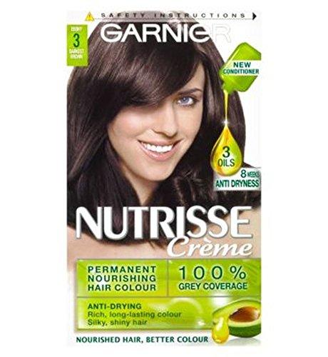 Garnier Nutrisse Crème Permanent Hair Colour 3 Darkest