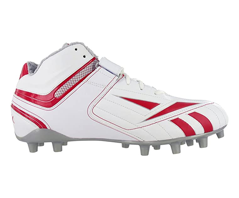 Amazon.com | REEBOK PRO FULL BLITZ KFS II MP MENS FOOTBALL CLEATS WHITE RED  12.5 | Football