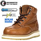 ROCKROOSTER Composite Toe Work Boots for Men, Steel Toe Waterproof Safety Working Shoes