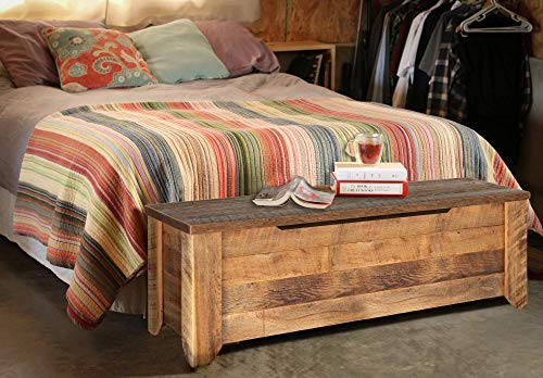 - Storage Bench made from reclaimed barn wood - Storage Trunk