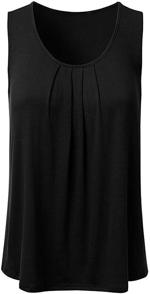 Womens Plus Size Summer Lace Up Vest T Shirt Blouse Ladies Sleeveless Tank Top H