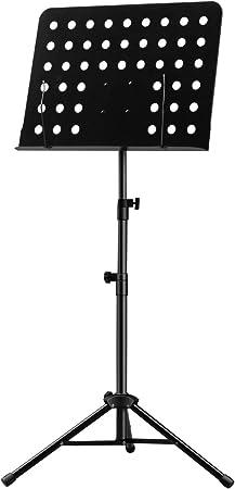Stabiles Notenpult mit Notenklemmen klappbarer Notenablage und LED-Pultleuchte