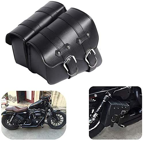 Motorcycle Saddlebags Waterproof Saddle Bag PU Leather Panniers Bags Universal for HD Street Sportster Softails Touring Dyna Scooter Honda Suzuki Yamaha Saddlebags