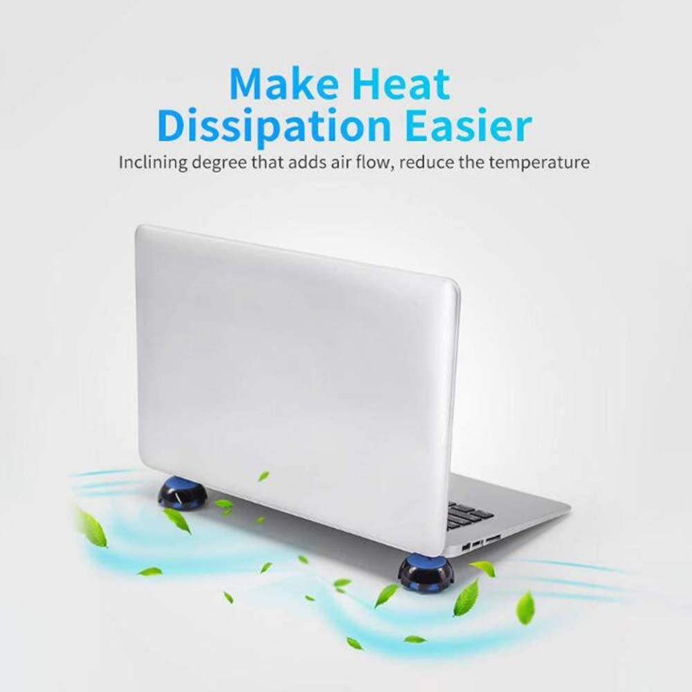 Silicone Heat Reduction Stand Balls Cooling Balls Cooler Stand Ball for All Laptop Notebook Ball Portable PC Stand,Blue