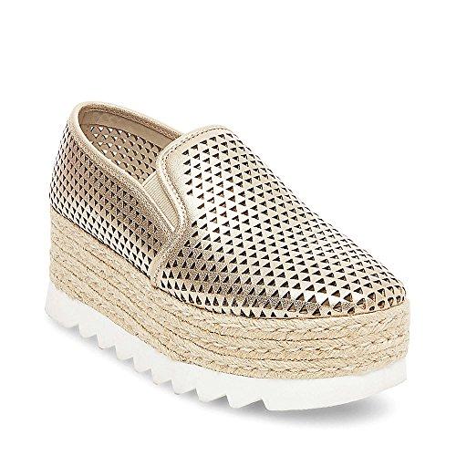 Steve Madden Women's Koreen-p Fashion Sneaker, Platinum, 11 M US (Us Made Shoes)