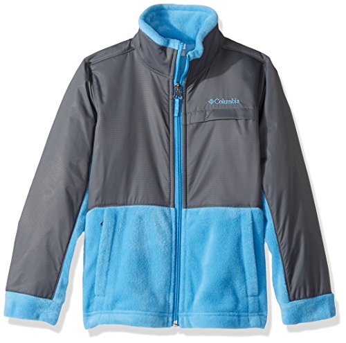 Boys Puff Jacket - Columbia Boys' Little Steens Mt Overlay, Peninsula, Graphite, Small