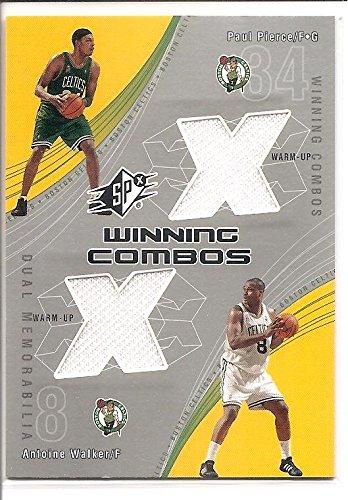 Paul Pierce / Antoine Walker Boston Celtics 2002-03 Upper Deck Winning Combos Dual Jersey Basketball Card #PP-AW