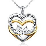 Sterling Silver I Love You to The Moon and Back...
