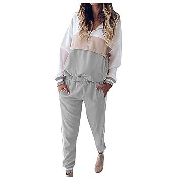 BXzhiri - Conjunto de Sudadera y pantalón de chándal para Mujer ...