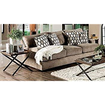 Amazon.com: Muebles de América sm1275-sf Glynis sofá, Tan ...