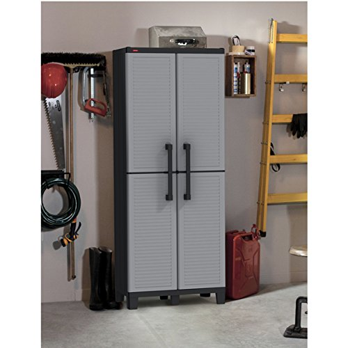 Plastic Utility Storage Cabinet with Adjustable shelves by I Love Living