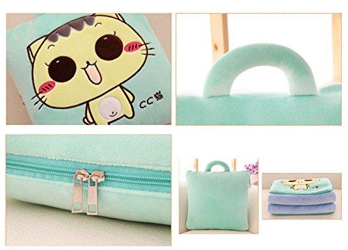 BSTcentelha 2 In 1 Cute Cartoon Plush Stuffed Animal Motifs Throw Pillow Blanket Set (Style E) by BSTcentelha (Image #7)