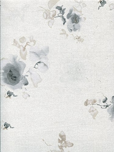 Price comparison product image Calvin Klein Watercolor Blooms Tablecloth, Charcoal, 60-by-104 Inch Oblong Rectangular