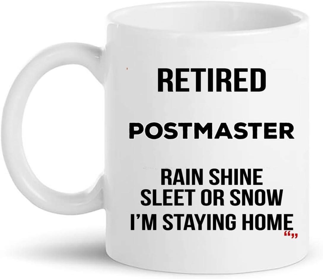 Retired Postmaster Cup Coffee Mug | Postmasters Retirement T-Shirt Gift | Postman Clerk - Beer Email post office Retire Retiring Gifts