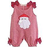YiZYiF Christmas Santa Claus Costume Baby Boys Girls Plaid Romper