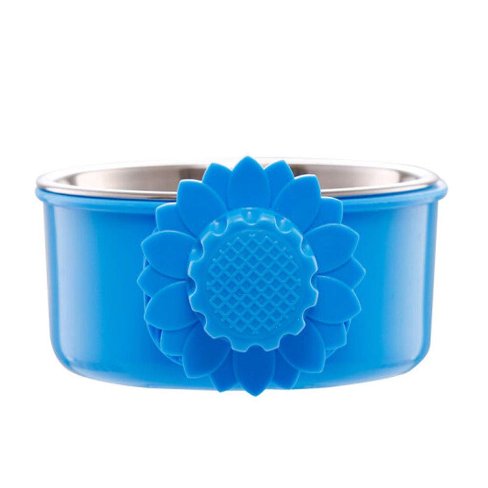 bluee 4.24.22 bluee 4.24.22 Pet Bowl,Dog Cage Fixed Stainless Steel Hanging Bowl, Medium and Large Dog Supplies, Small Size · Top Diameter (4.4) Inch bluee (color   bluee, Size   4.2  4.2  2)