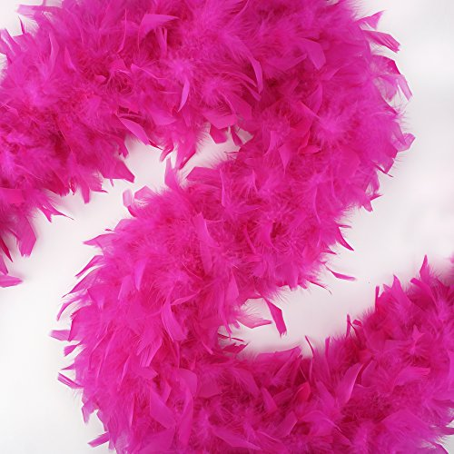 ZUCKER Heavy Weight Chandelle Feather boa Solid Colors - Shocking Pink by Zucker (Image #5)