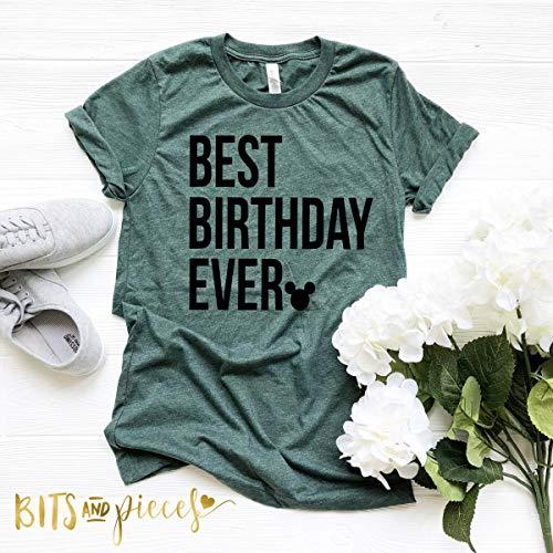 Disney Best Birthday Ever Shirts | Goofy Mickey Pluto Family Disney Shirts | Princess | Disney T|shirts for Girls|Boys (Best Disney Family Shirts)