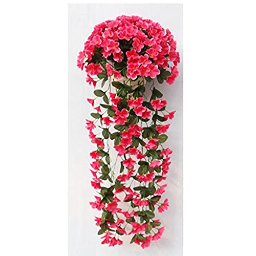 Artificial flowers bulk amazon 1 bunch artificial violet hanging with baskets garland vine flower trailing bracket plant home garden wall decor artificial silk flowers rose red mightylinksfo
