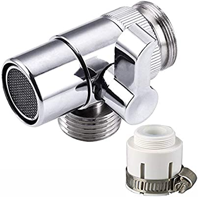 Universal Faucet Adapter Diverter Valve Kitchen Sink to Garden Hose Adapter