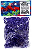 Official Rainbow Loom 600 Ct. Rubber Band Refill Pack DEEP PURPLE [Includes 25 C-Clips!]