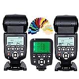 YONGNUO 2pcs YN-560 III Manual Flash Speedlite Light + YN560-TX LCD Wireless Manual Flash Controller For Canon