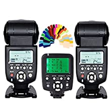 YONGNUO 2pcs YN-560 III Manual Flash Speedlite Light + YN560-TX LCD Wireless Manual Flash Controller For Canon