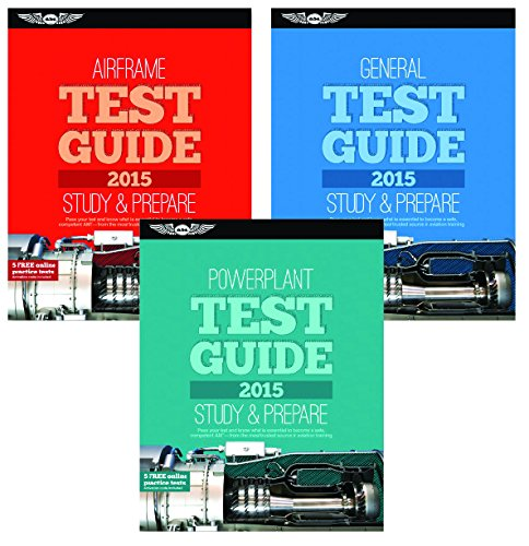 ASA 2014 AMT Test Guide Book BUNDLE - General, Airframe, and Powerplant