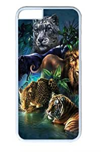 Big Jungle Cats Custom For Iphone 5/5S Case Cover Polycarbonate White