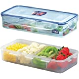 Lock&Lock Classics Rectangular Food Container with Divider, 1.6 Litres