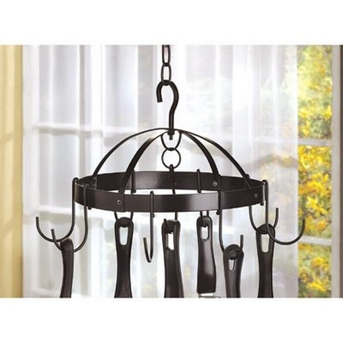 Gifts & Decor Mini Pot Hanger Kitchen Home Hanging Pan Utensil Holder by Gifts & Decor (Image #2)