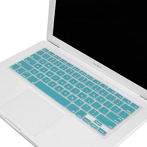 TopCase AQUA BLUE Keyboard Silicone Skin Cover for Macbook 13
