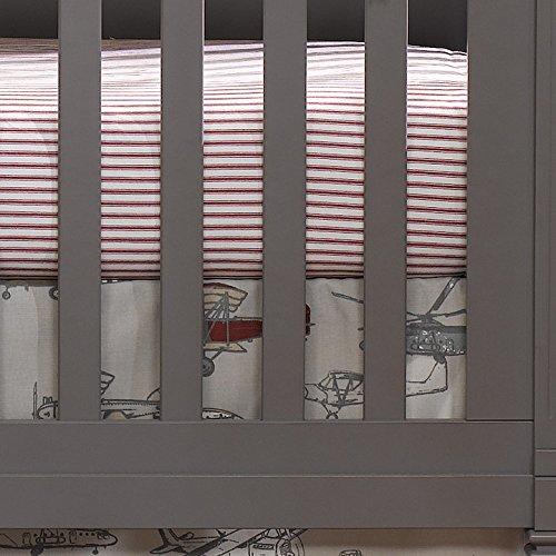 (Red Classic Stripe Crib Sheet)