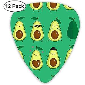 Sherly Yard Cute Avocado Einzigartige Gitarren-Plektren 12er-Pack für musikalische Geschenke