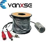 Vanxse Underwater Fish Camera HD 1000TVL 12Pcs LEDs Day/Night 100 Degree view Fish Finder video Camera (30Meters Cable)