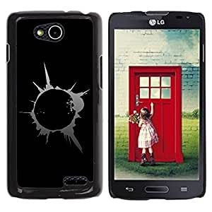 Planetar® ( Abstract Splash Blast ) LG OPTIMUS L90 / D415 Fundas Cover Cubre Hard Case Cover