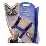 Meolin Cat Dog Collar Pet Lead Leash Halter Harness Adjustable Safety Nylon Rope,Polyester,11.02in