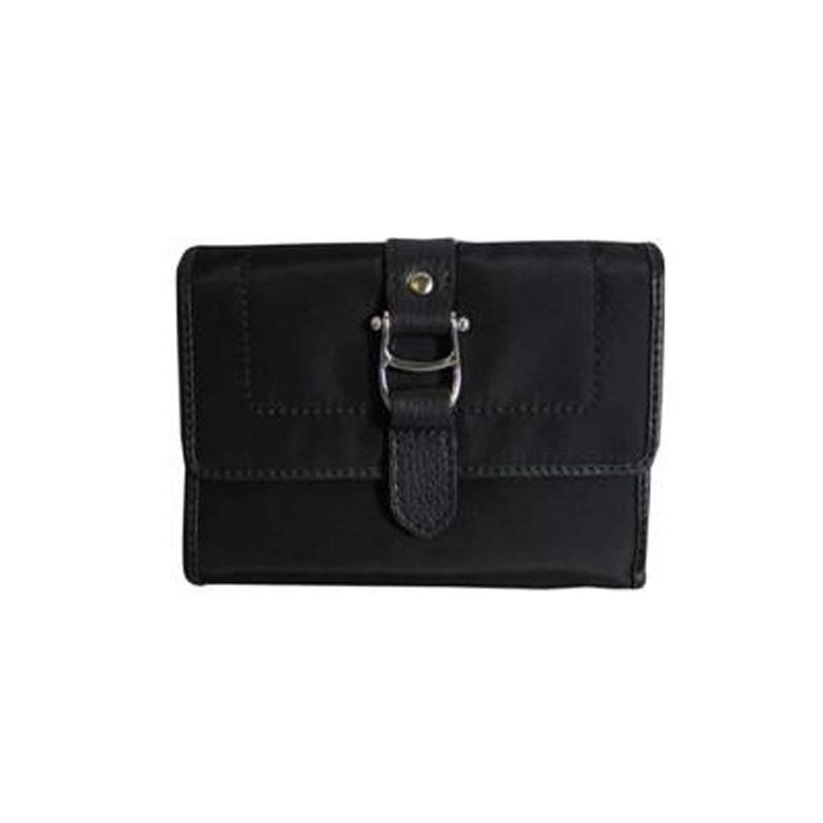 AIGNER Original Damen Geldbörse Portemonnaie Leder schwarz Portmonee schwarz